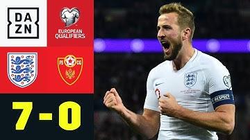 HAttRRYck KANE ballert Three Lions zur EM: England - Montenegro 7:0 | EM-Quali | DAZN Highlights