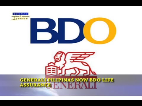 Generali Pilipinas Now BDO Life Assurance -  Bizwatch