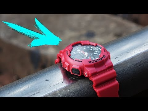 G-SHOCK WATCH VS TRAIN CHALLENGE!!! DO NOT REPEAT!!!