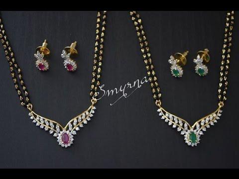 Latest Maharashtra Style Diamond Mangalsutra Designs