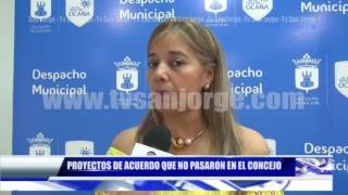 PROYECTOS DE ACUERDO QUE NO PASARON EN EL CONCEJO