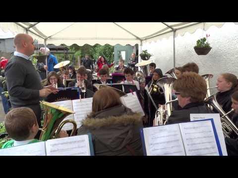 Brass Band People's Farm Food Market Perth Perthshire Scotland