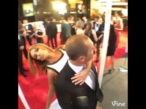 Kylie Gillies and Larry Emdur do a TV WEEK Fashion Turn at the 2014 Logies
