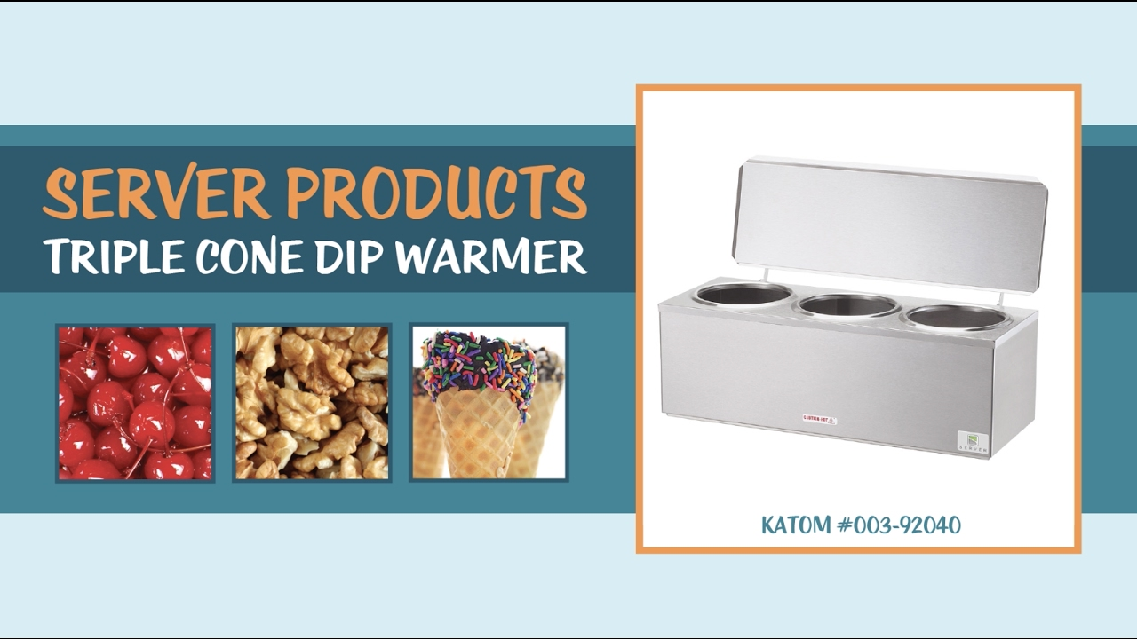 Server Products 92040 Triple Cone Dip Warmer - YouTube