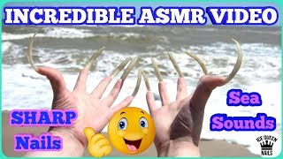 NEW CLOSE UP ASMR LONG NAILS HARD SCRATCHING AIR! SEA SOUNDS  AND WONDERFUL EFFECTS! BEST CURVES