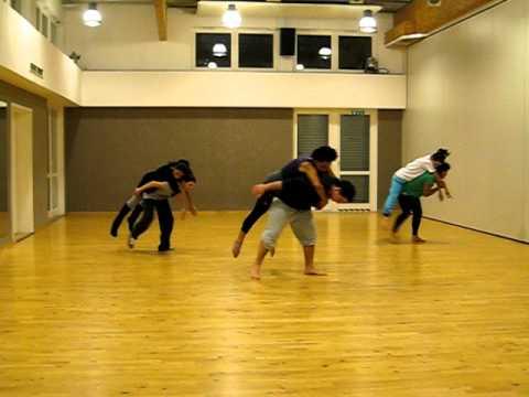 Advanced expermental modern jazz partnering choreo in class
