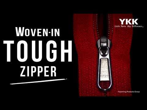 Woven-In Tough Zipper