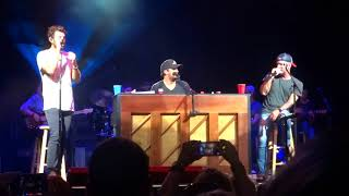 """Luke Bryan sings """"Strip It Down"""" with Brett Eldredge and Craig Campbell at PNC Music Pavilion"""
