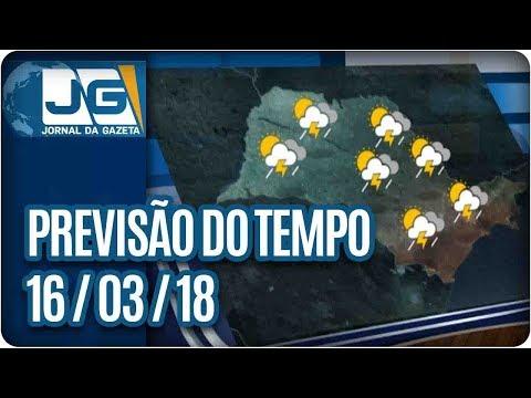 Previsão do Tempo - 16/03/2018