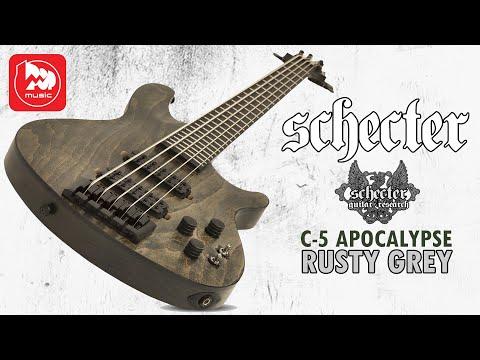 SCHECTER C-5 APOCALYPSE RUSTY GREY - крутой 5-струнный бас
