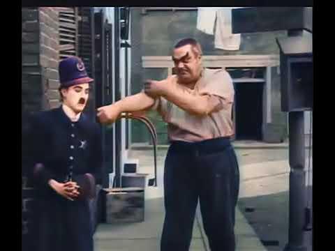 Charlie Chaplin: POLICE (Laurel & Hardy) Color