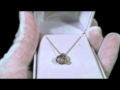 Jewelure Sterling Silver Signity CZ Love Knot Necklace