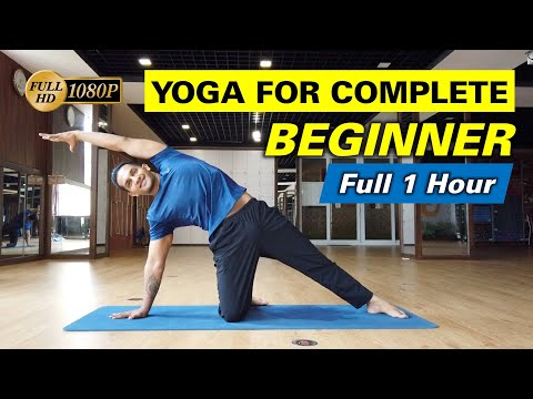 Yoga For Complete Beginners - Full 1 Hour Home Yoga Workout For Beginner | Yograja