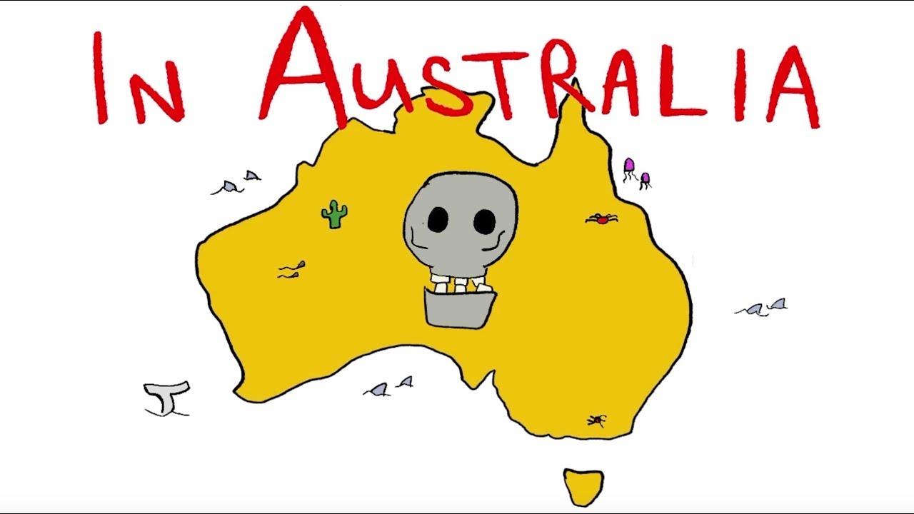 Map Of Australia Dangerous Animals.Australia S Deadliest Animals Song