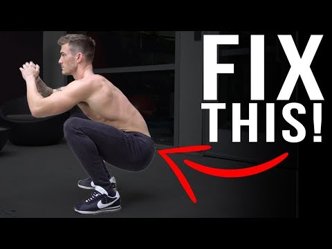 How To Squat Without Low Back Pain (BUTT WINK CONFUSION!)