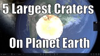 CRASH! 5 Biggest Asteroid Craters on Earth - Universe Sandbox²