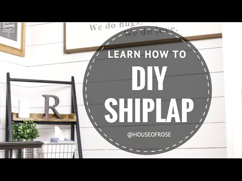 DIY SHIPLAP  |  WHITE WOOD WALL  |  STEP BY STEP TUTORIAL