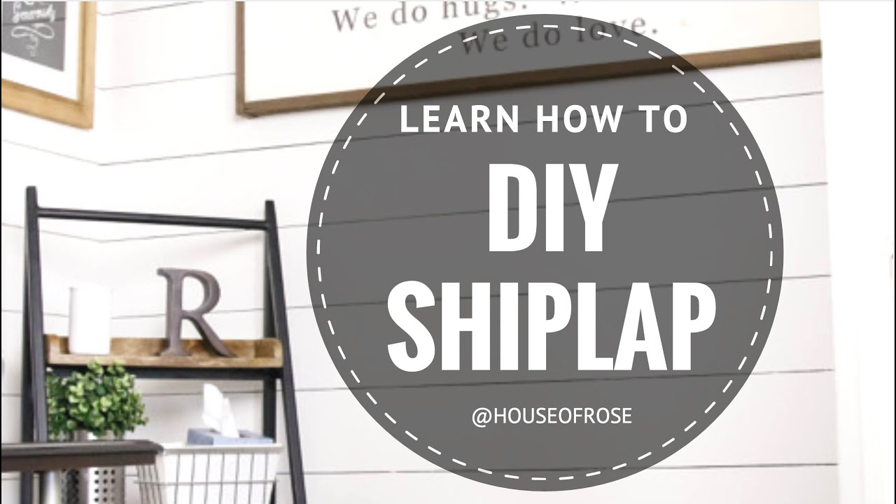 Diy shiplap white wood wall step by step tutorial youtube sciox Image collections