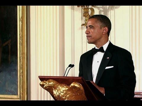 President Obama Awards Shimon Peres the Presidential Medal of Freedom