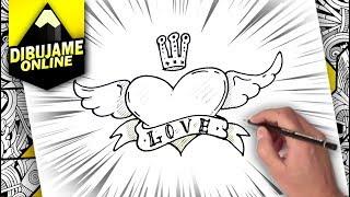 hvordan tegne et hjerte