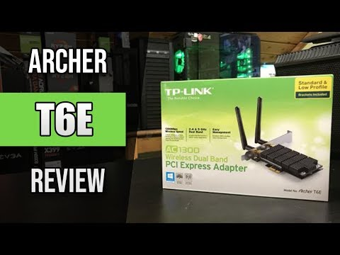 TP-Link Archer T6E AC1300 PCI-E Wifi Adapter/Card Review, Benchmarking, & Unboxing