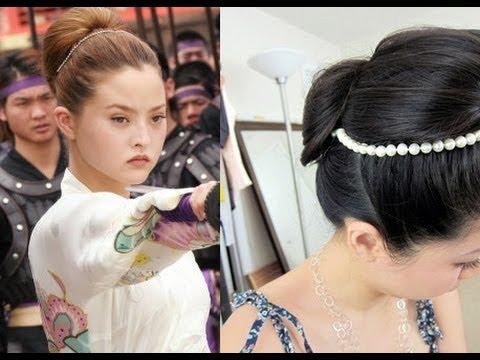 Devon Aoki As Japanese Ninja Princess Kasumi Hair Tutorial Youtube