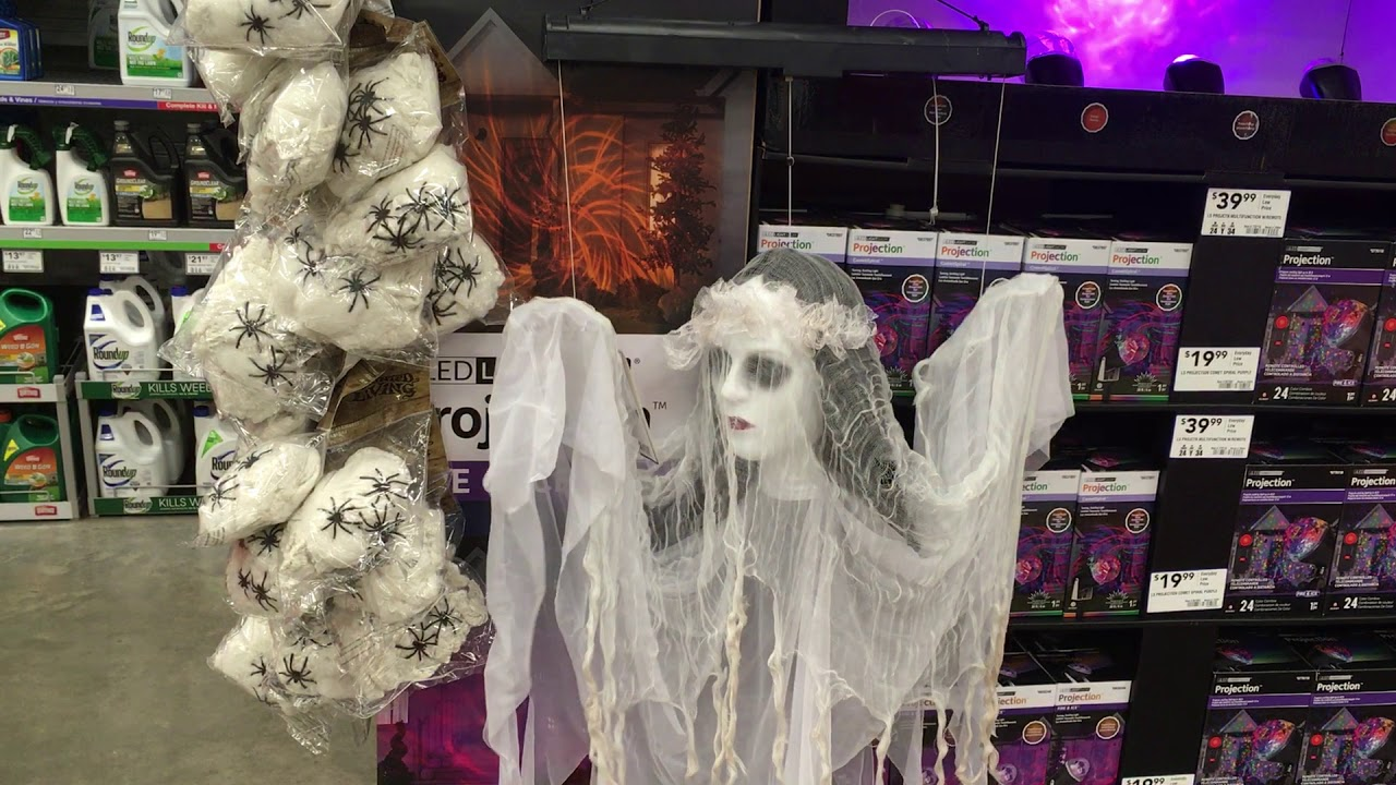 Lowes halloween 2017 gemmy floating black light lady youtube lowes halloween 2017 gemmy floating black light lady aloadofball Image collections