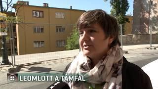 Leomlott egy támfal egy budavári építkezésen 19-09-18