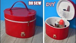 DIY ORGANIZER ZIPPER BOX NO SEW bag for cosmetics//Travel Bag Design Tutorial