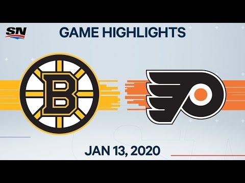 NHL Highlights   Bruins vs. Flyers – Jan. 13, 2020