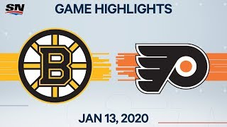 NHL Highlights | Bruins vs. Flyers - Jan. 13, 2020