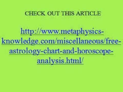 Free Astrology Chart And Horoscope Analysis Youtube
