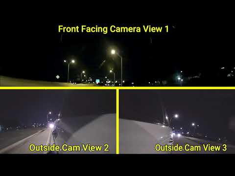 Watch 3 Camera Views On Our EagleEye4: 3 Dash Cam Night Driving Video