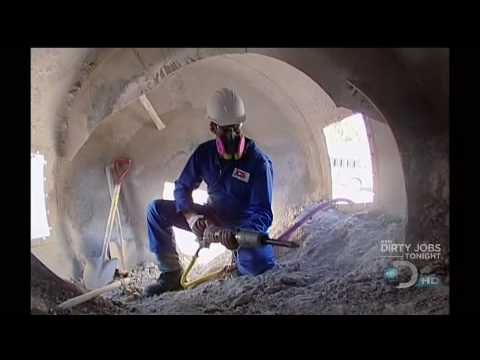 Dirty jobs concrete chipper movie part 2 youtube for How to clean concrete indoors