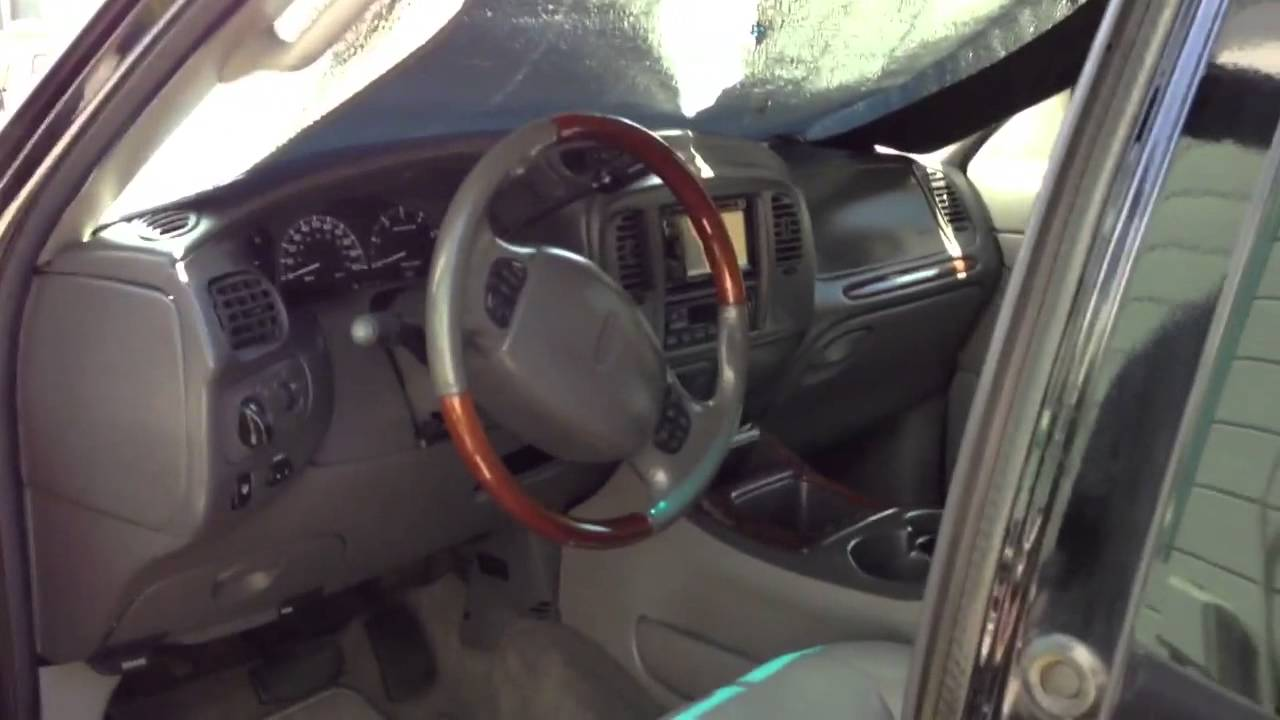2001 Lincoln Navigator Interior Youtube