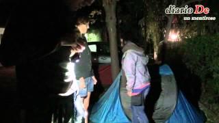Montando el campamento en Camping Trevélez