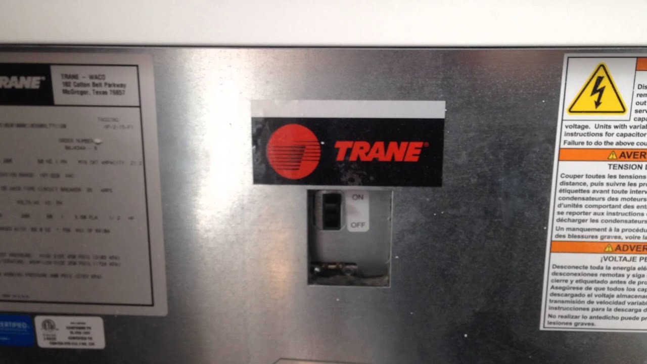 Resetting A Trane Heat Pump Youtube
