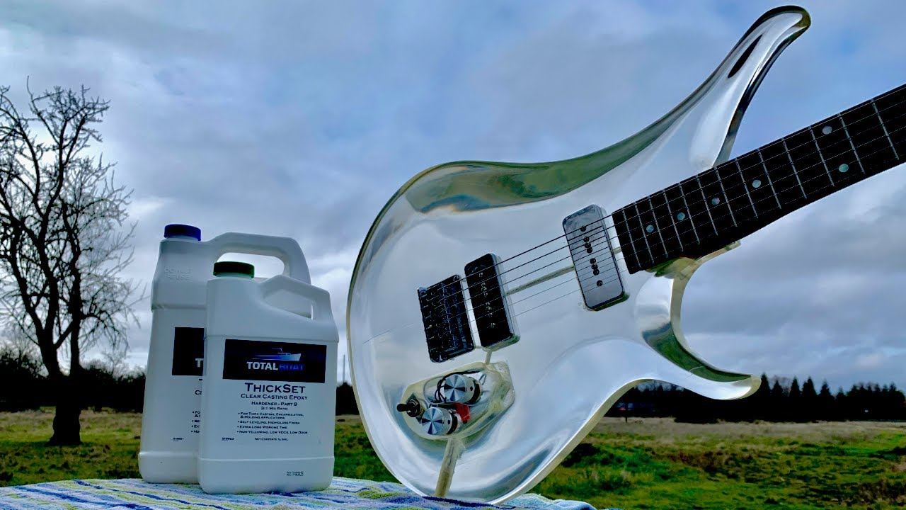 I Built a Clear Guitar Out of Epoxy