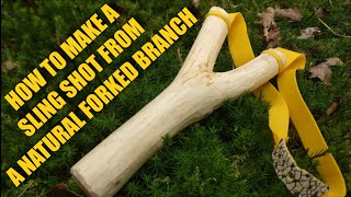 How to carve / make a slingshot from a natural forked branch of yew
