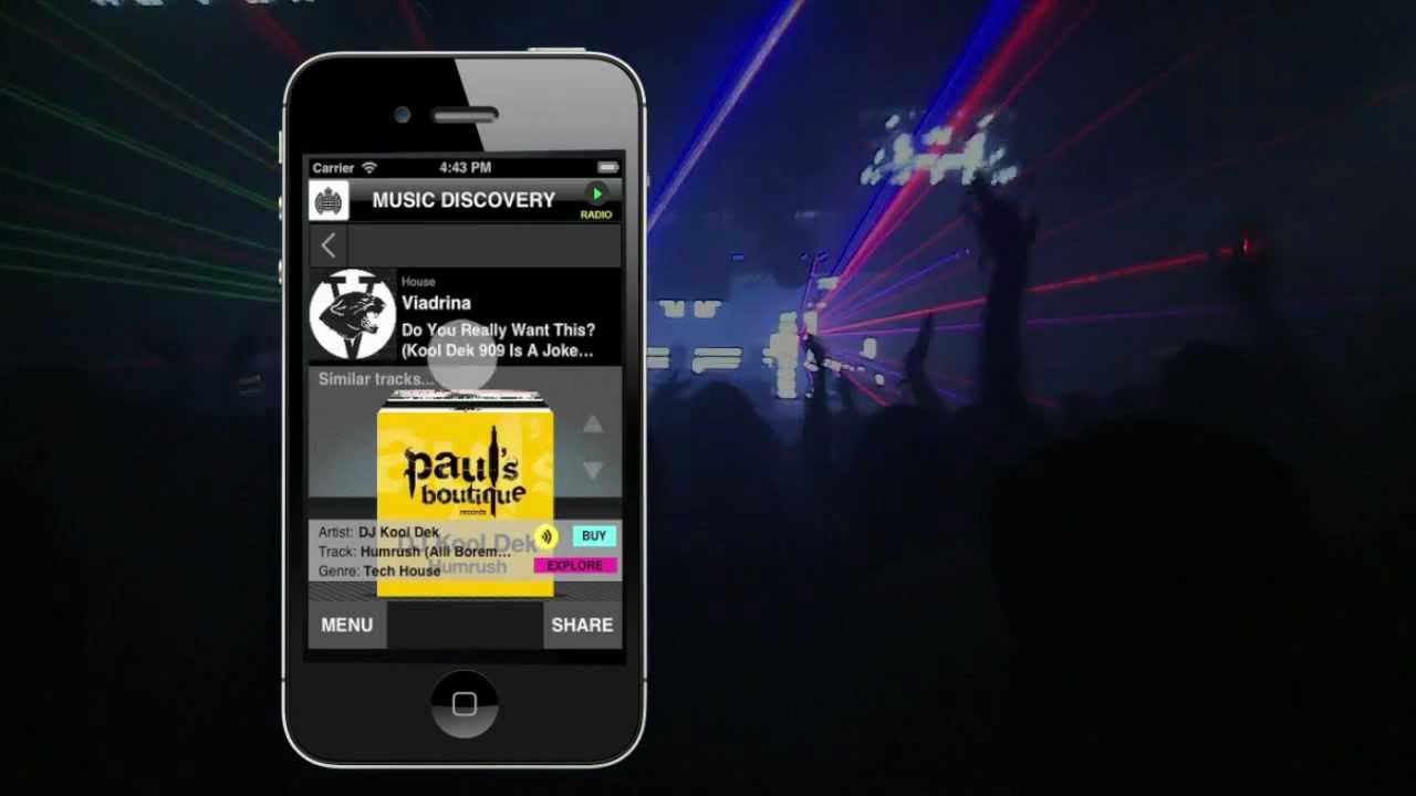 Ministry of Sound Music Discovery Mobile App: How To