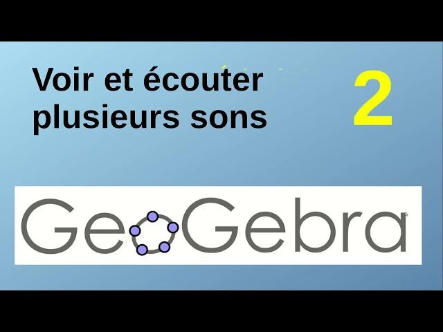 Composition d'ondes sonores avec Geogebra
