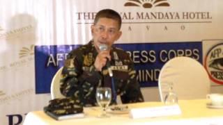 Palparan did not hide in davao region