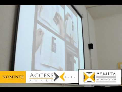 Access Award 2012 Prachi Deshpand Nominee From Rachana Sansad College Of Applied Art Craft Youtube