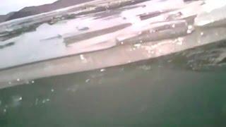 Машина тонет на льду Байкала. Полная версия с регистратора