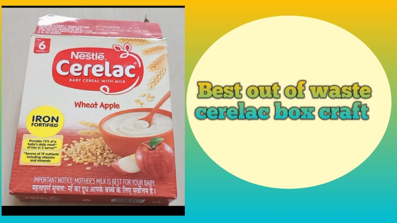 Best out of waste recycle cerelac box craft
