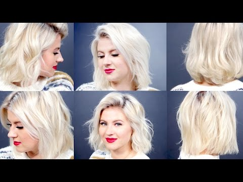 6 Curls/Waves For Short Hair With Curling Wand | Milabu