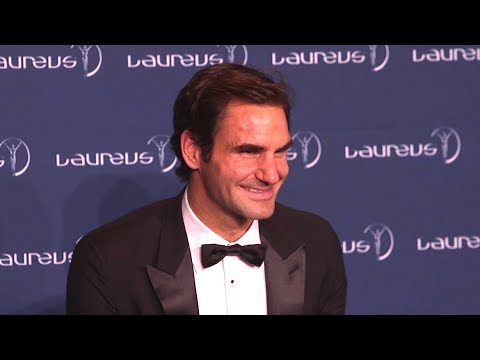 Roger Federer Press Conference After Winning 2 Awards At 2018 Laureus World Sports Awards