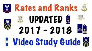 USCG Rates and Ranks Video Study Guide (2018 UPDATED)