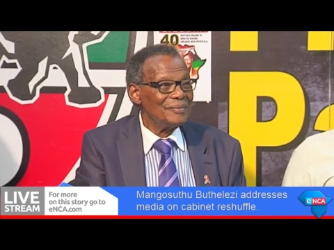 Buthelezi addresses media on cabinet reshuffle