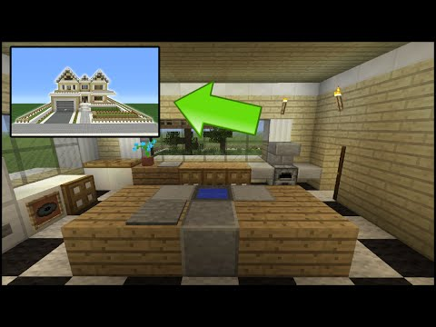 Minecraft Tutorial: How To Make A Suburban House - 8 (Inside/Outside)